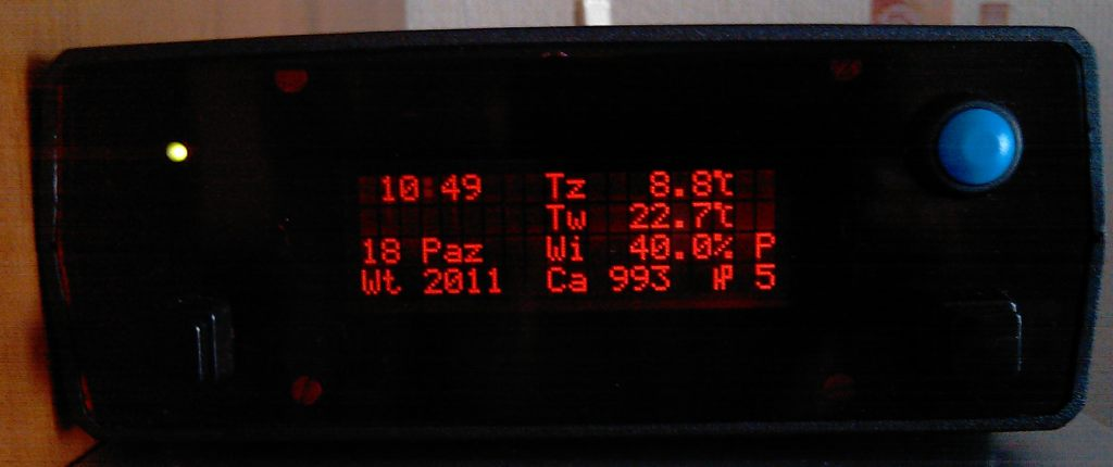 Barometr, wilgotno�ciomierz i termometr w jednym