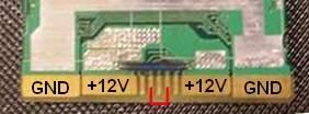 HP model: PS-3701-1C - pin out - start zasilacza.