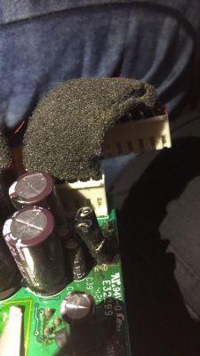 Logitech Z906 - spalony zasilacz