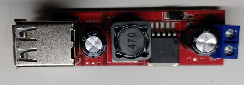 Przetwornica LM2596 wyjściami USB HW-272
