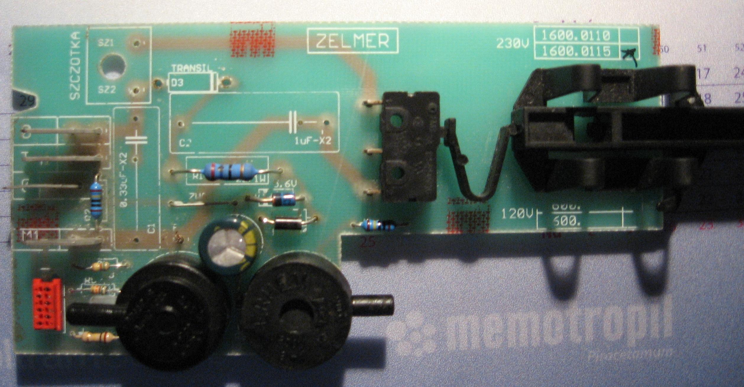 Odkurzacz zelmer syrius - g��wna p�ytka elektroniki.