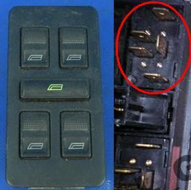 Panel sterowania szybami Audi C4