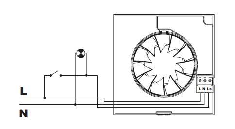 SILENT CHZ - Pod��czenie wentylatora �azienkowego z timerem pod o�wietlenie