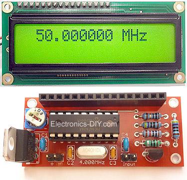 Miernik/licznik cz�stotliwo�cii na wy�wietlaczu LCD