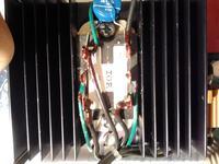 Schemat do prostownika z regulatorem napięcia do silnika na prąd stały