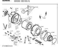 Siemens/Avangarde/WM5347AIE - Pralka Siemens Avangarde WM5347AIE, wymiana łożysk