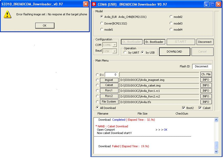 Samsung S3310 restaruje sie z karta sim