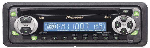 Pioneer DEH 1400 - raster oraz podświetlenie lcd