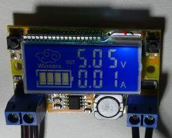 Test przetwornicy DC/DC buck 2A z regulacją oraz wyświetlaczem napięcia i prądu