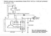Alternator Fiat 125p przerobiony z 6 diodowego na 9 diodowy.