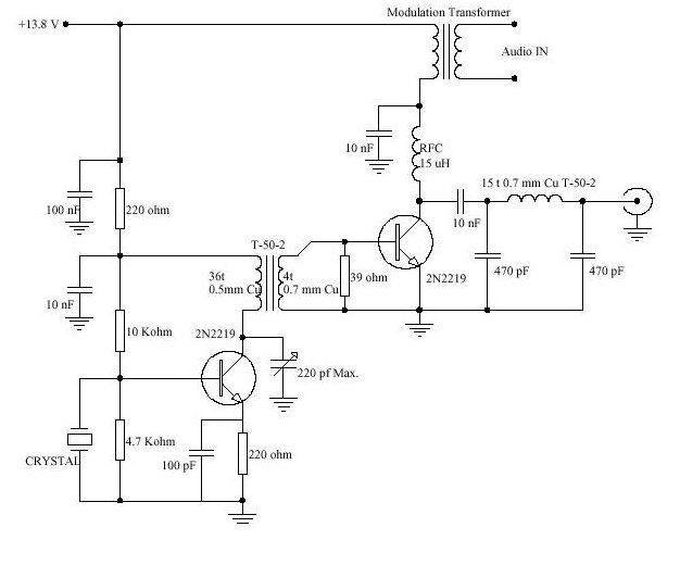 designing low level am transmitter on my own first time in life block diagram shows you what a simple am transmitter looks like the microphone converts the audio frequency input to electrical energy