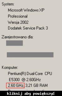 Wymiana/podkręcanie procesorów Intel E5300/Intel E8600.