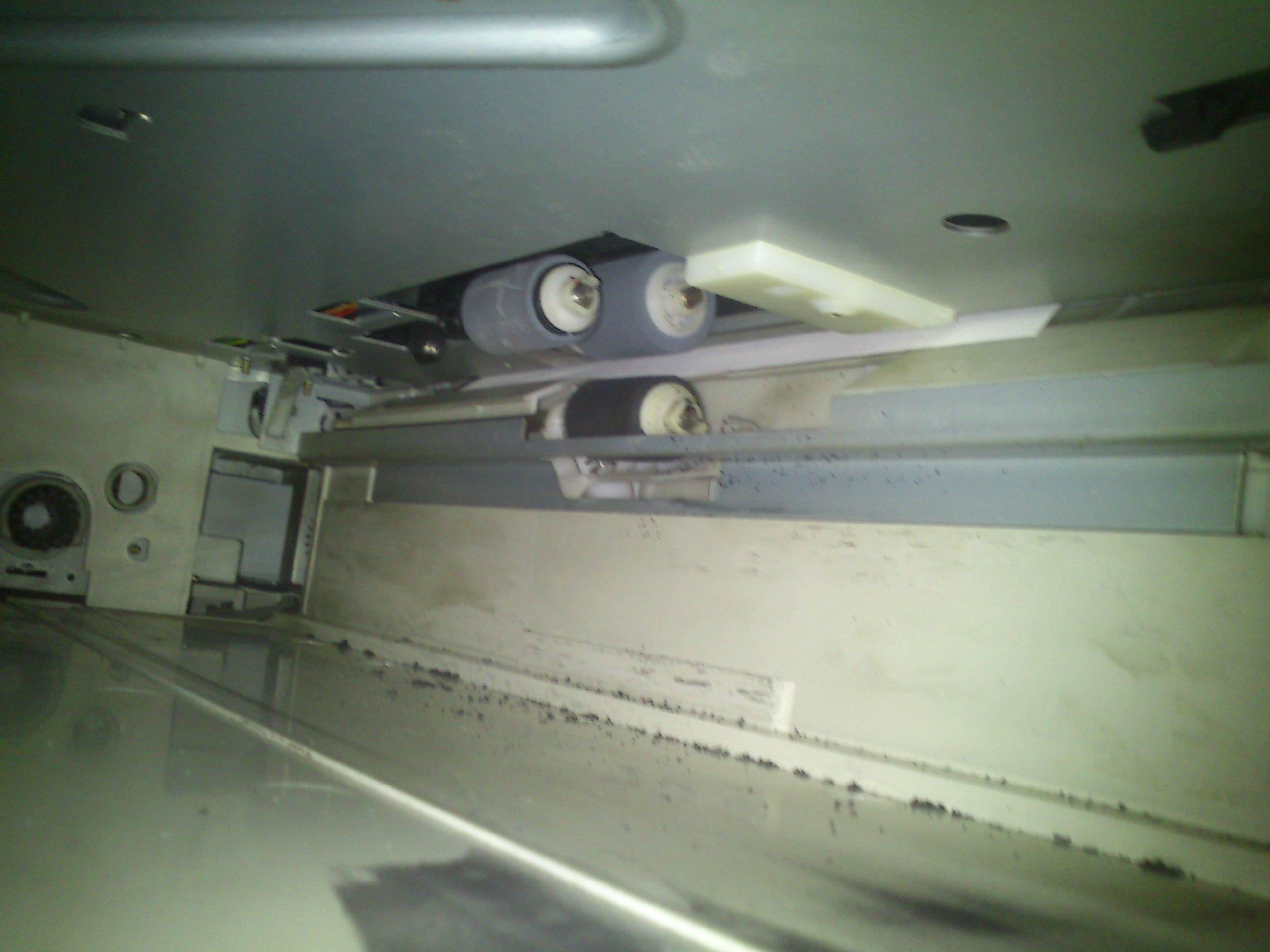 Panasonic DP-2010 - zg�asza zaci�cie papieru tylko na dolnym podajniku