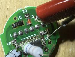 Test i wnętrze modułu voltomierza AC20-500V AD101-22VM