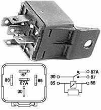 Corsa B 1.5 D Isuzu - przekaznik kontrolki ładowania