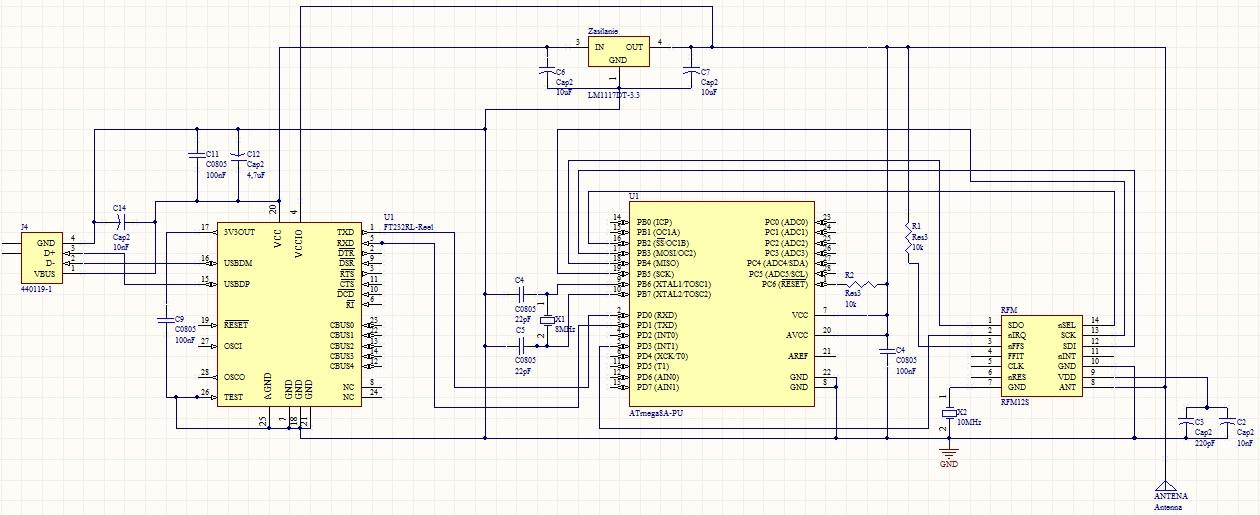 ATmega8 + FT232RL - zasilanie napi�ciem 3.3V