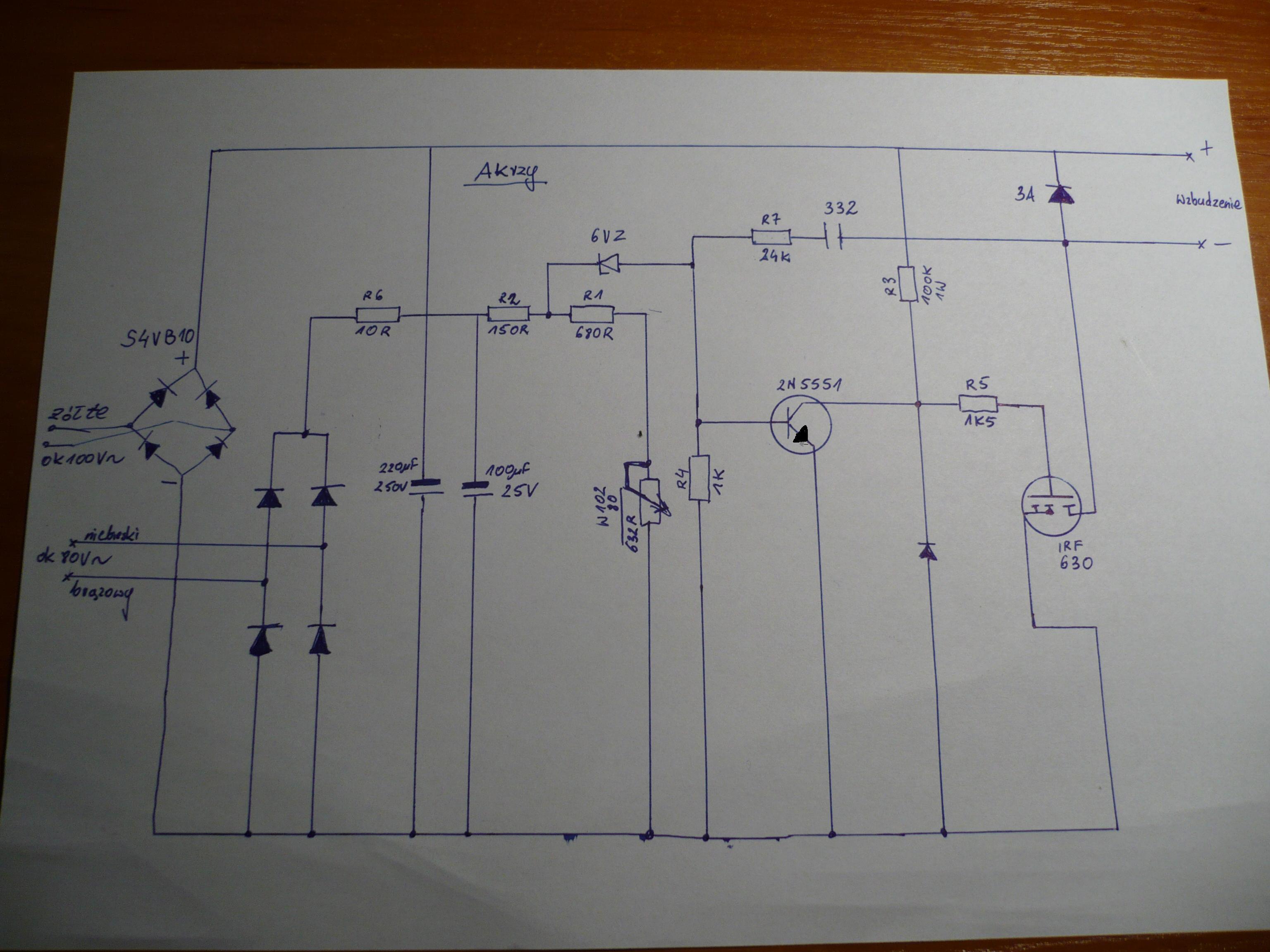 Tani dwusuwowy agregat z Chin z do��czonym regulatorem AVR