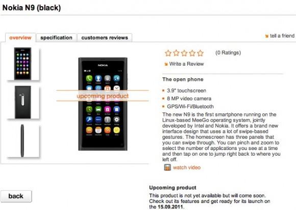 Nokia N9 - pierwszy smartphone z systemem MeeGo w sprzeda�y od 19 wrze�nia
