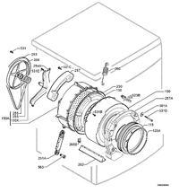 Pralka AEG 62610 - Łożyska, simering - wymiary