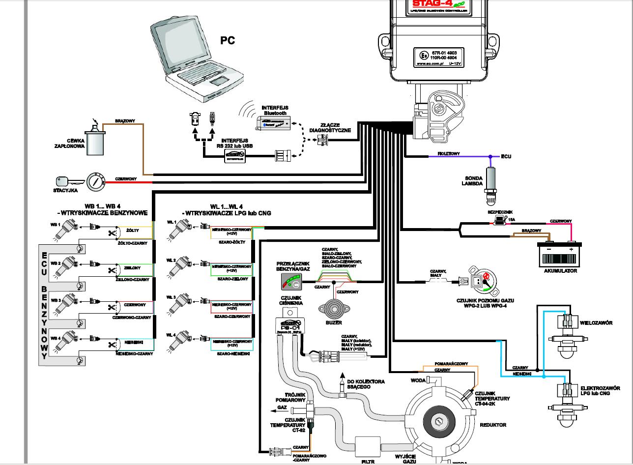 Газовое оборудование на автомобиль электрическая схема