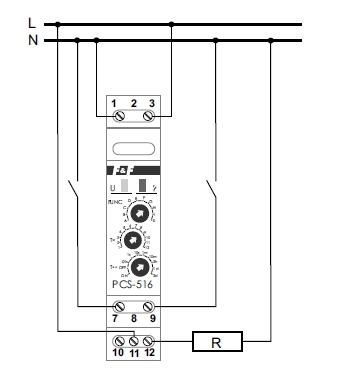 Przeka�nik czasowy PCS-516 - Monta� do sterowania oswietleniem ogrodowym
