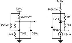 Wykrycie napięcia granicznego i załączenie obciążenia (500V DC)