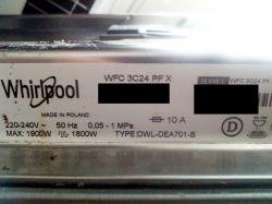 Zmywarka Whirlpool WFC 3C24 PF X - pompa myjąca C00302488 błąd F15