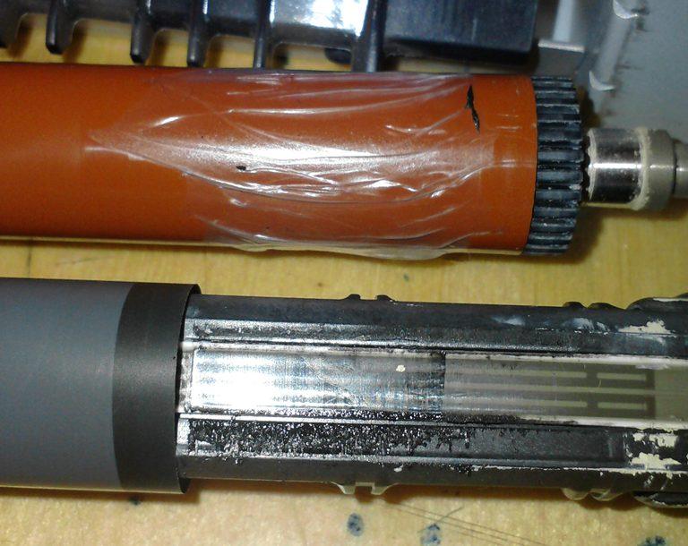 HP Laserjet 3015 - uszkodzona folia grza�ki