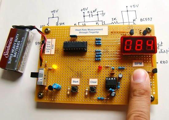 Mikroprocesorowy pulsomierz na procesorze PIC