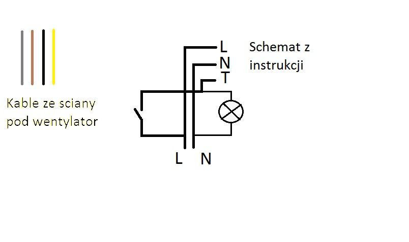 Pod��czenie wentylatora awenta WM100T do cza�wki