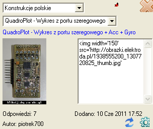 Elektroda - Konstrukcje program
