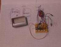 Zabawka dla dziecka - płyta z diodami super flux zasilanymi z Joule Thief (1,5V)