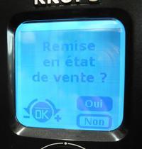 Krups EA8050 - na wyświetlaczu symbol wtyczki po ustawieniu godziny