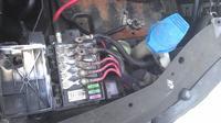 Sharan 1,9TDi Automat - nadpalona skrzynka z bezpiecznikami 130A i 110A
