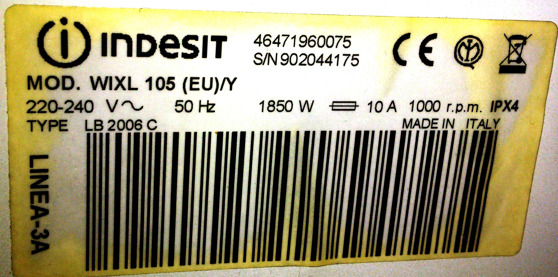 Indesit wixl105 - Nie p�ucze i nie wiruje