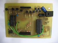 Matryca LED - zegar z grą Snake.