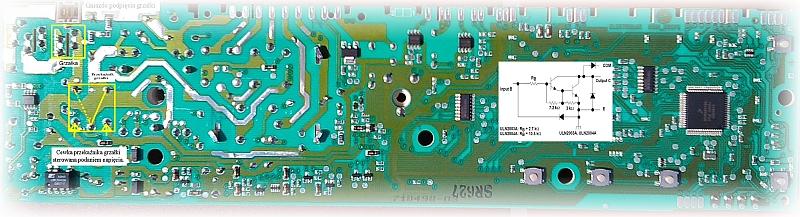 Pralka Elektrolux EWT10120W - Nie załącza przekaźnika grzałki. Nie grzeje wody.