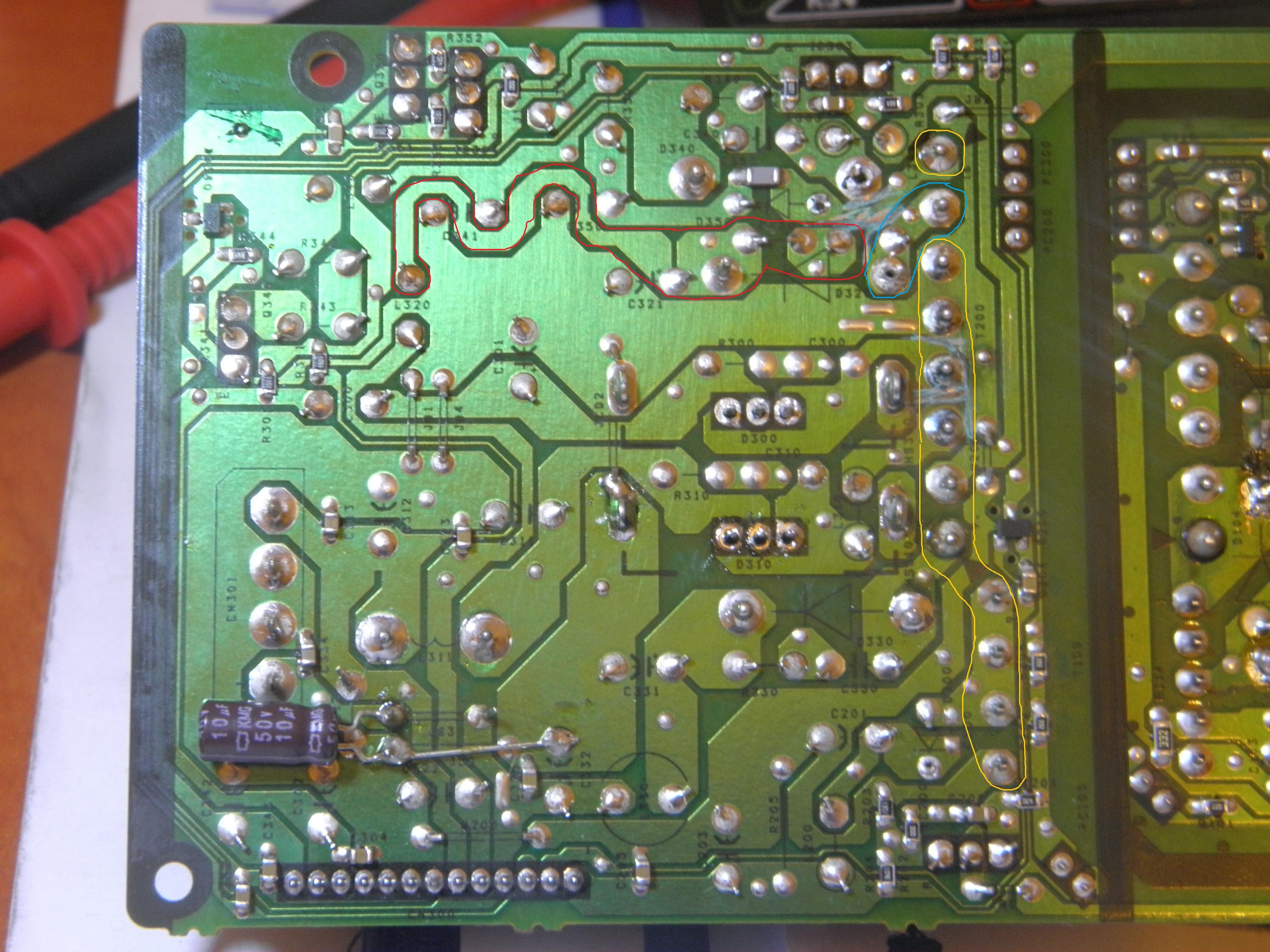 Naprawa zasilacza ETXEZ250E7G DreamBox 7020.