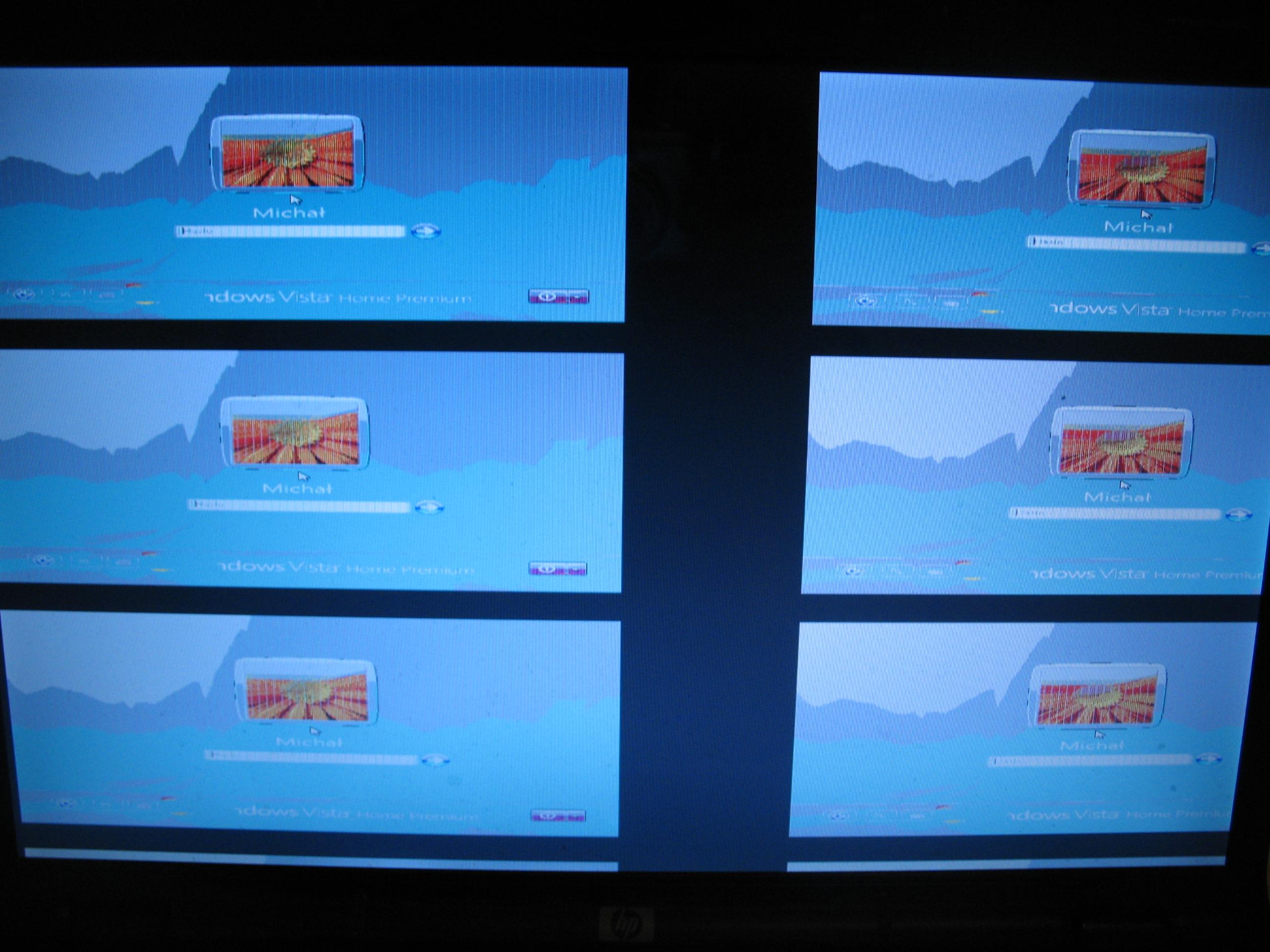 hp pavilion dv6730ew - kilka obraz�w na wy�wietlaczu
