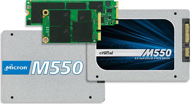 Micron M550 - nowa seria dysk�w SSD o pojemno�ci od 64GB do 1TB