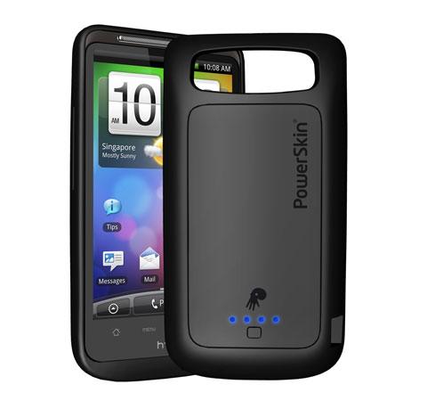 PowerSkin - silikonowe etui po��czenie z zewn. akumulatorem dla telefon�w HTC