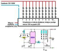 Regulator PWM zastosowany w kolejnym zapalaniu si� pask�w LED