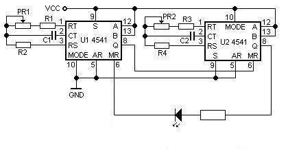 Przerywnik prądu z regulacją czasu trwania i częstotliwości