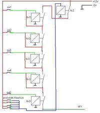 układ sekwencyjny na przekaźnikach