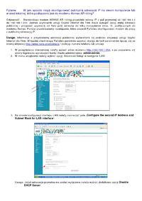 Netia konfiguracja podsieci 8 adresów publicznych