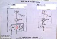 Schemat podłączenia rozdzielnicy budowlanej z przełącznikiem LOP