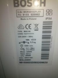 Bosch classixx 6 g.ładowanie -nie działa programator