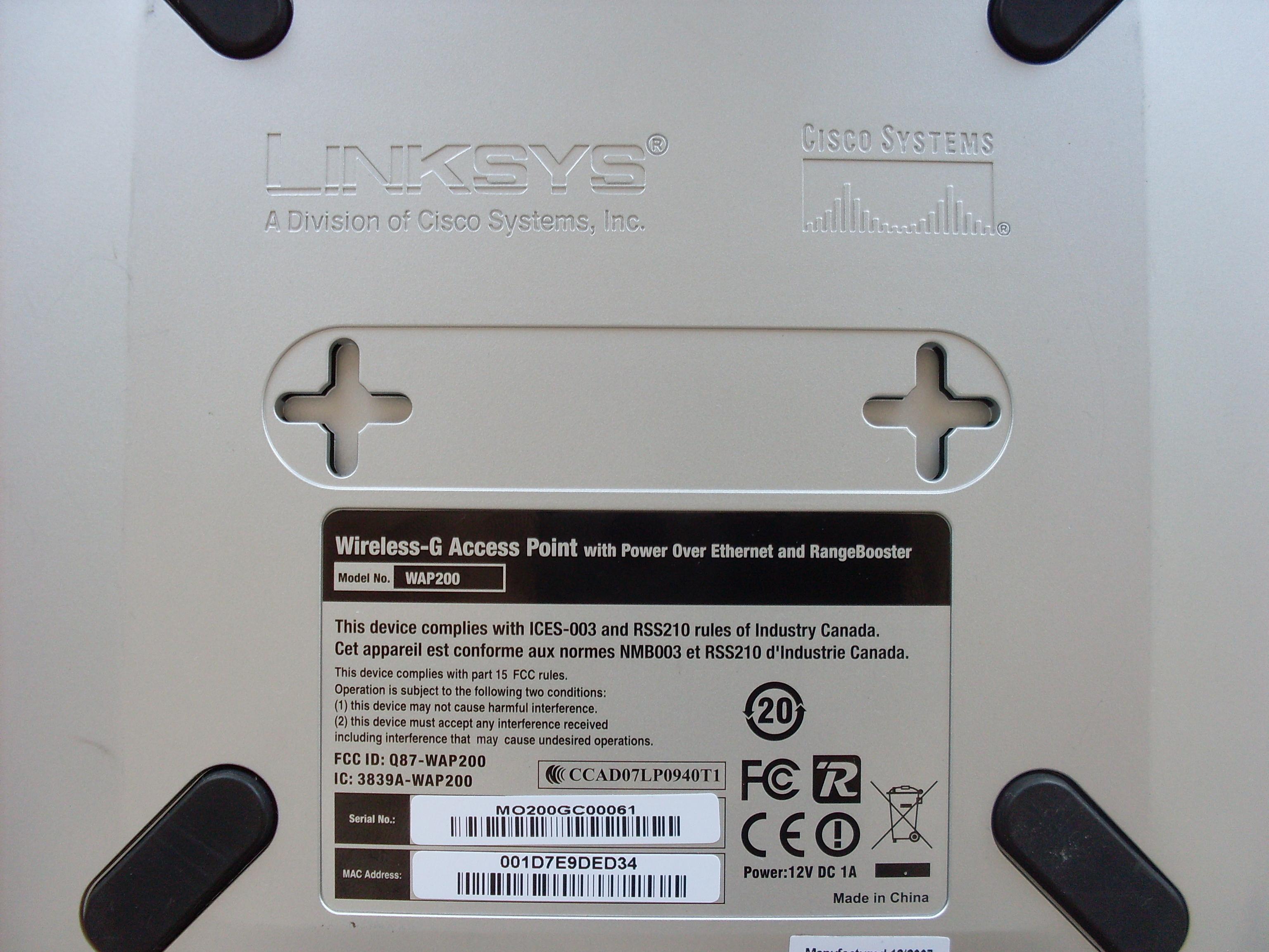 Linksys WAP200 - brak komunikacji