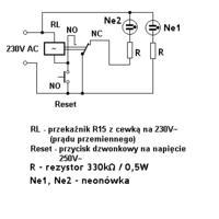 Wskaźnik zaniku napięcia - (sieci 230v)