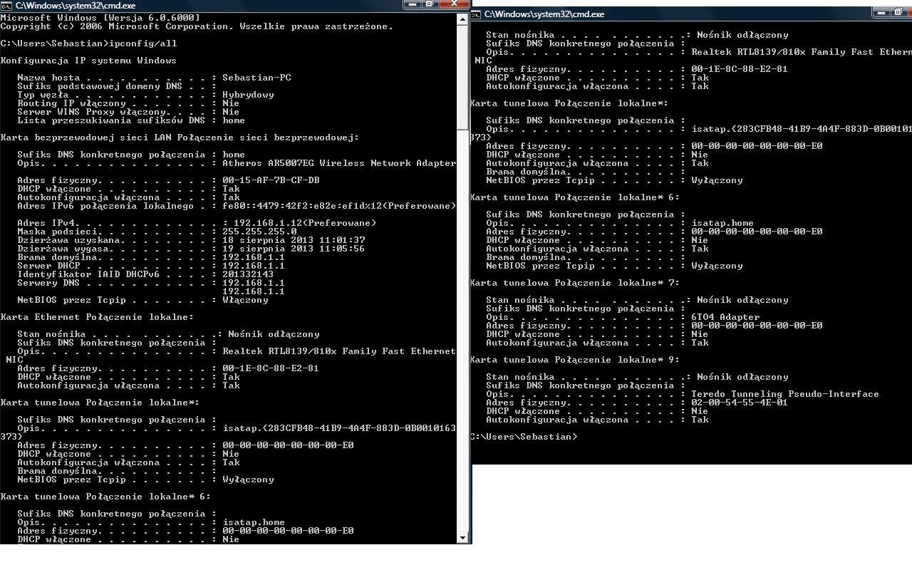 Problem z zalogowaniem si� na na stron� konfiguracji (192.168.1.1)
